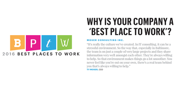 Moser best places to work baltimore